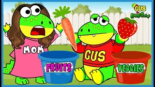 Learn about Gardening with Gus the Gummy Gator! Vegetable and Fruit Garden for Kids!