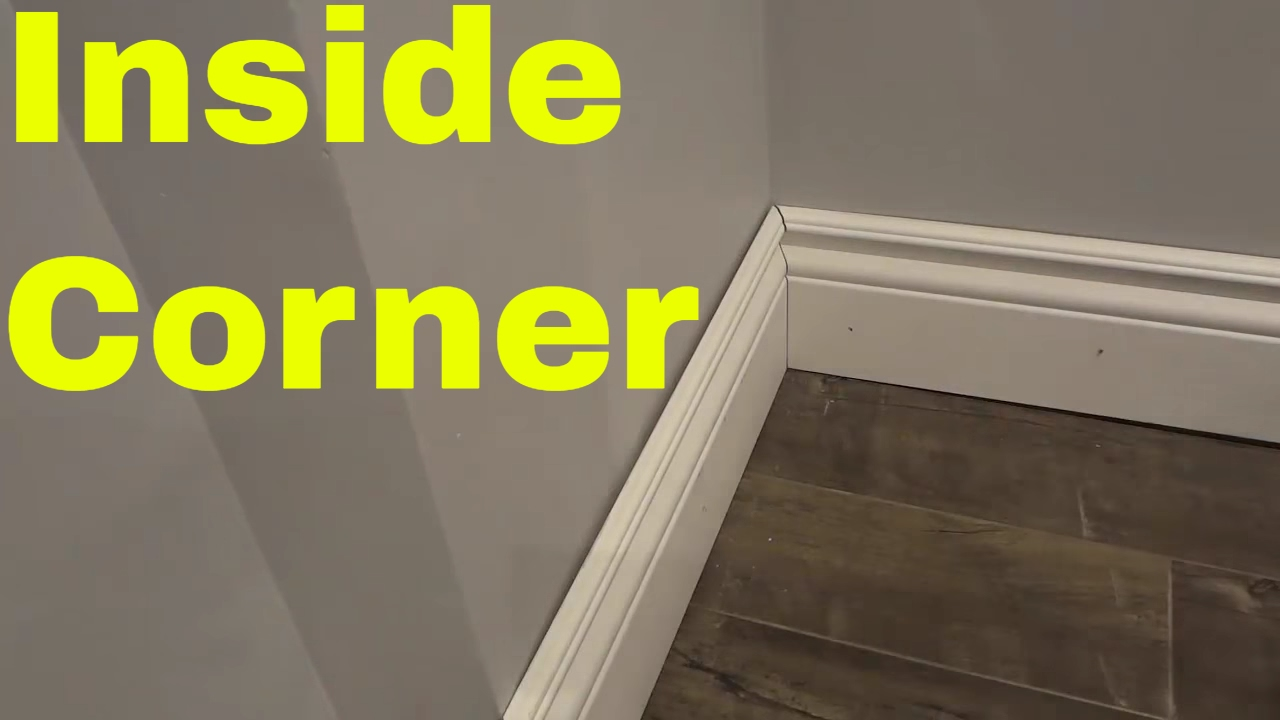 Installing An Inside Corner With Baseboard Tutorial Youtube