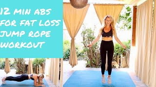 12 minute Jump Rope AB workout to lose belly fat fast