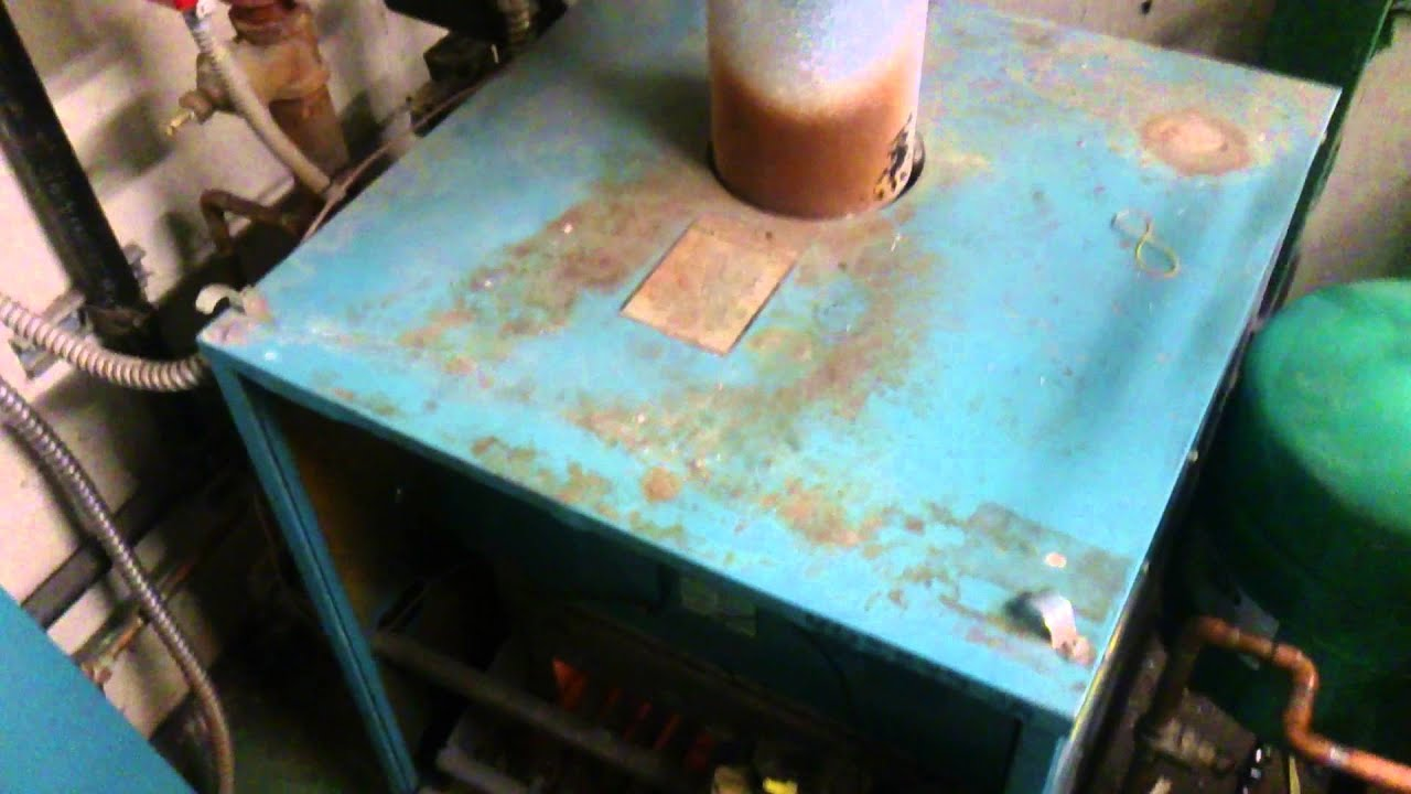 Old cast iron boiler vs New cast iron boiler ~JD - YouTube