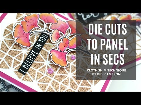 DIY Cloth Shim for die cutting to transfer die cuts to card panels