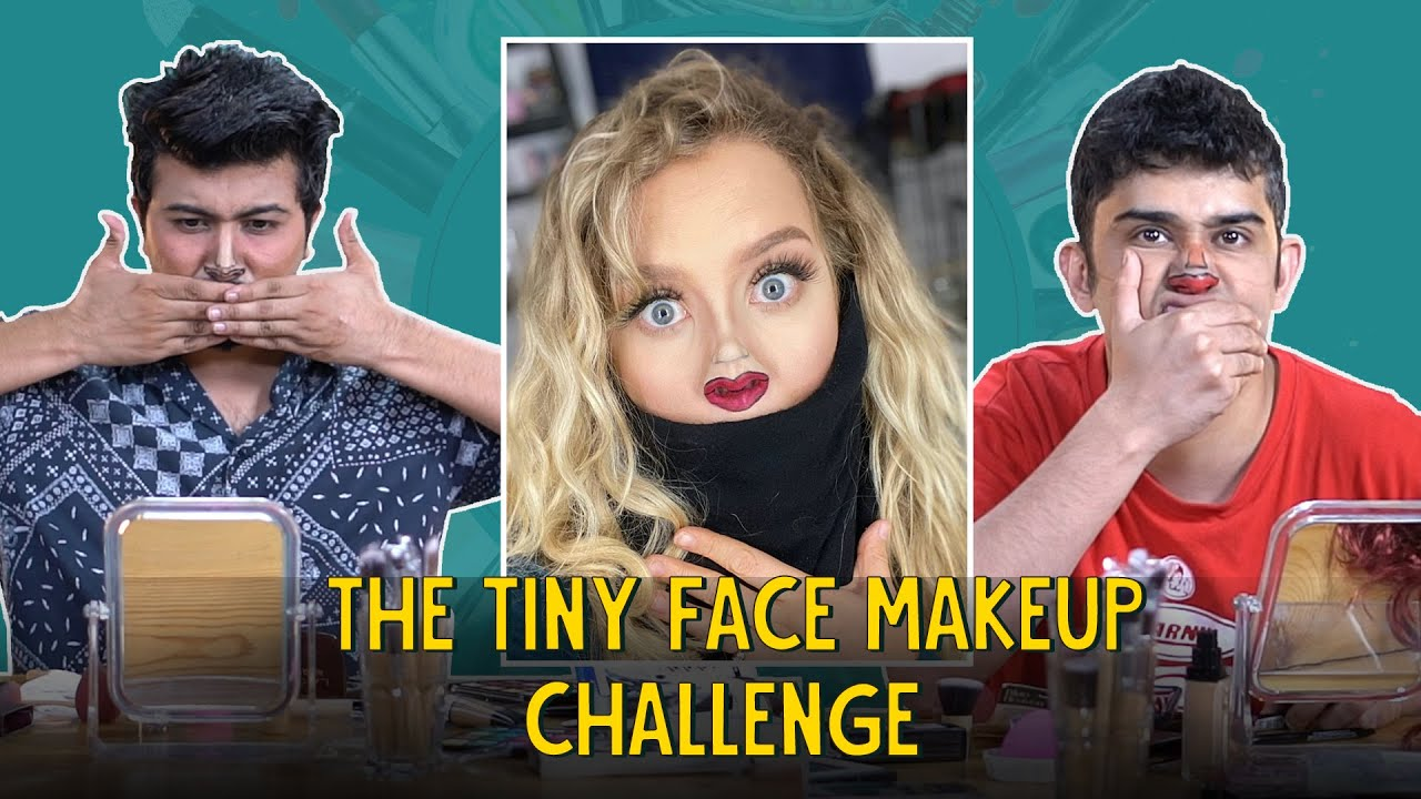 Guys Try The Tiny Face Makeup Challenge Ft. Biswas & Akshay   Ok Tested