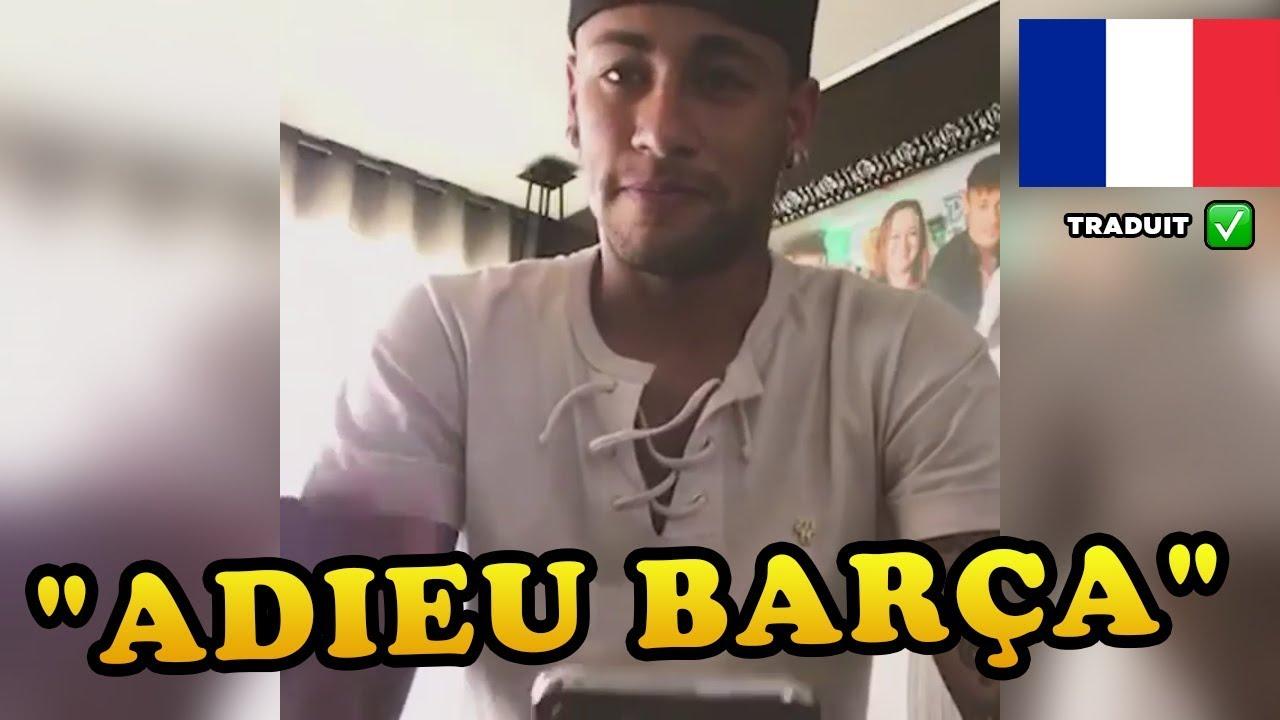 Traduction FR - Message d'adieu de Neymar au Barça