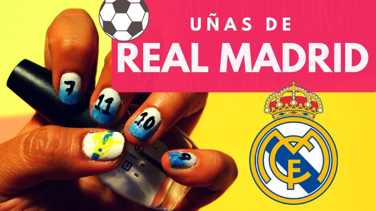 Decoración De Uñas Del Real Madrid Youtube