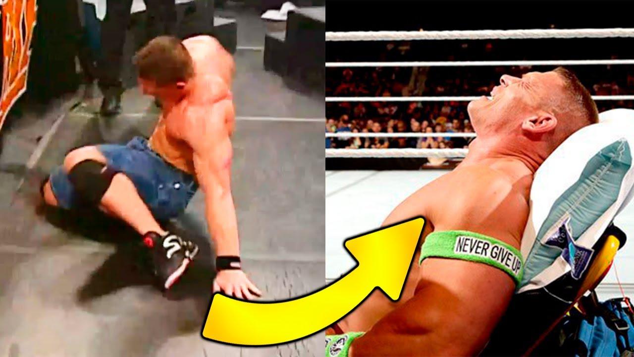 8 LESIONES EN EL RING CAPTADAS POR CAMARAS DE WWE!