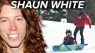 Shaun White Surprises Kids At Snowboarding Lessons
