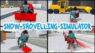 Roblox SNOW SHOVELLING SIMULATOR! Fandroid il robot musicale