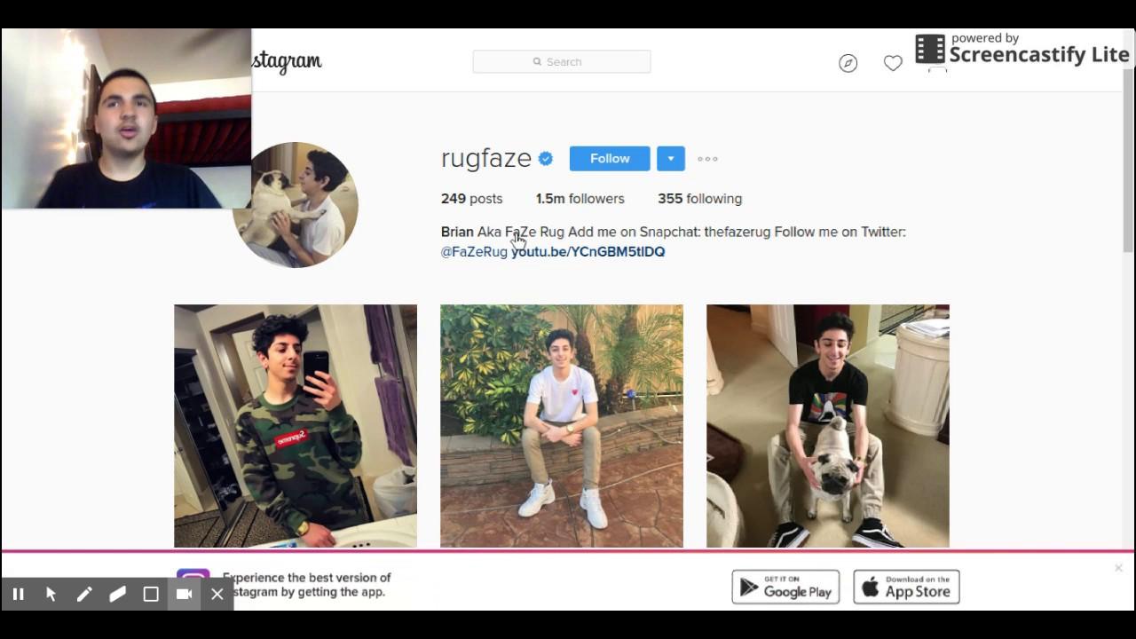 I See Faze Rug Instagram