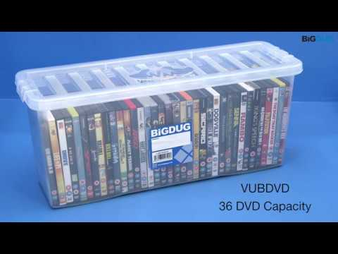 BiGDUG CD U0026 DVD Wham Plastic Storage Boxes