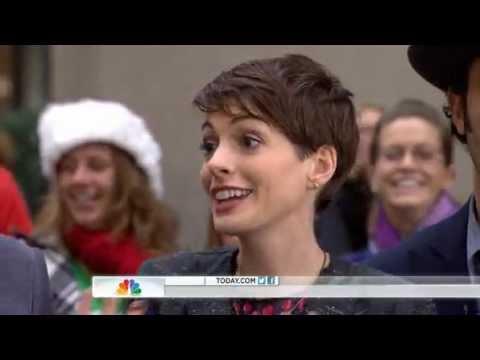 Les Miserables Movie Cast   TODAY   *Not entire cast*  Hugh Jackman, Anne Hathaway...