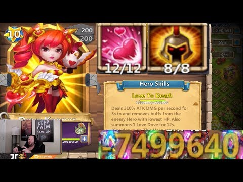 Dove Keeper 12/12 OMG 7.5 MILLION Damage Proc LOL WOW Castle Clash