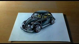 3D Drawing - VW Beetle