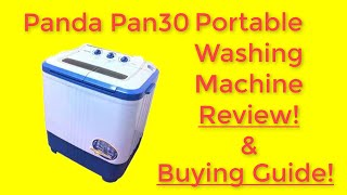 Panda PAN30 Washer-Small Compact Portable Washing Machine Review