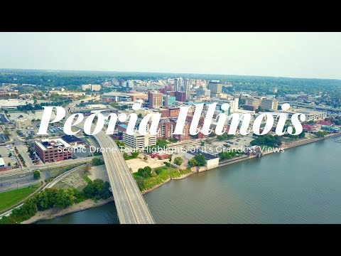 Scenic Drone Tour of Peoria Illinois and it