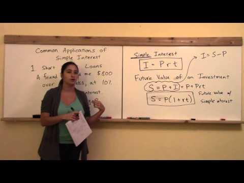 Math 147 W9: Simple Interest