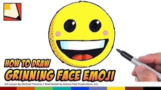 How to Draw Emojis - Grinning Face Emoji - Step by Step for Beginners | BP