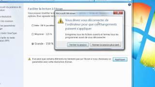 Modifier l'affichage dans Windows 7 sans changer la résolution