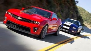 Shelby GT500 vs Camaro ZL1 | Track Tested | Edmunds.com