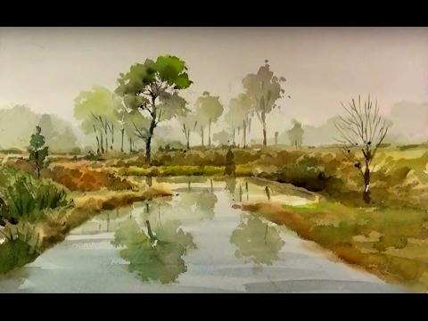 's easy landscape watercolor
