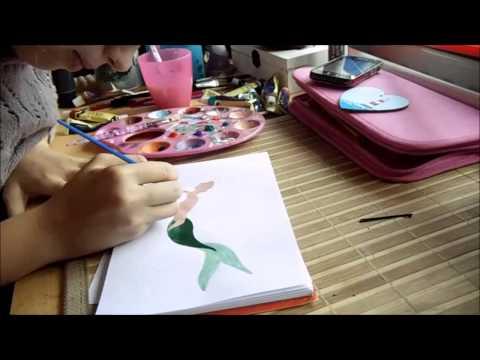 Painting Disney Character - Ariel