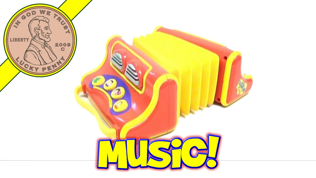 The Wiggles Toys R Us : The wiggles play along musical accordion toy jeff