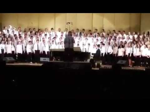 Give me music Sang by WV all-state choir
