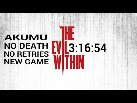 The Evil Within Akumu Speedrun No Death New Game 3:16:54