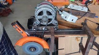 Делаю отрезной станок с двигателем от стиральной машины. Что то пошло не так