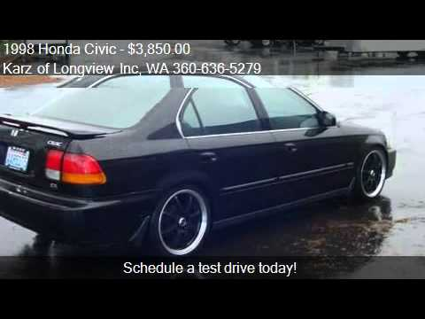 1998 honda civic ex pkg 4 door for sale in longview wa. Black Bedroom Furniture Sets. Home Design Ideas