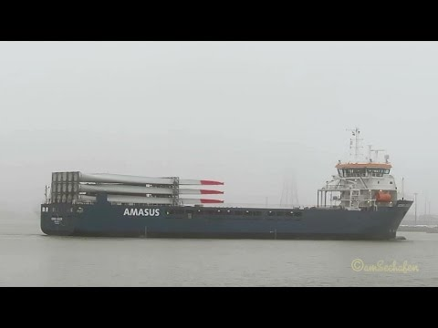 cargo seaship EEMS DOVER ex ABIS DOVER PBYV IMO 9613630  Emden Frachtschiff AMASUS