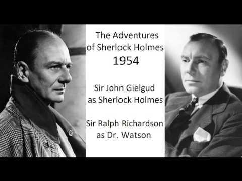 The Adventures of Sherlock Holmes: The Red-headed League - John Gielgud & Ralhp Richardson - 1954