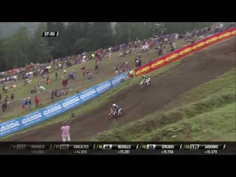 Max Nagl passes José Butron MXGP of Czech Republic MXGP Race 2 - 2016