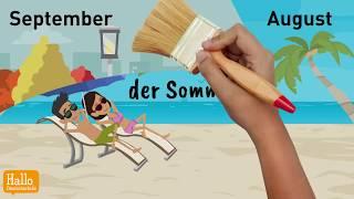 Deutsch lernen / Jahreszeiten / Wetter / Perfekt