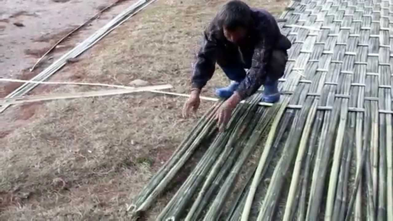 Bamboo Mat Weaving Bumthang Bhutan Youtube