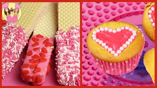 ❤️ BEST OF VALENTINES RECIPES Wafer cookies Marshmallow treats Pearl Heart Cupcakes Oreo pops
