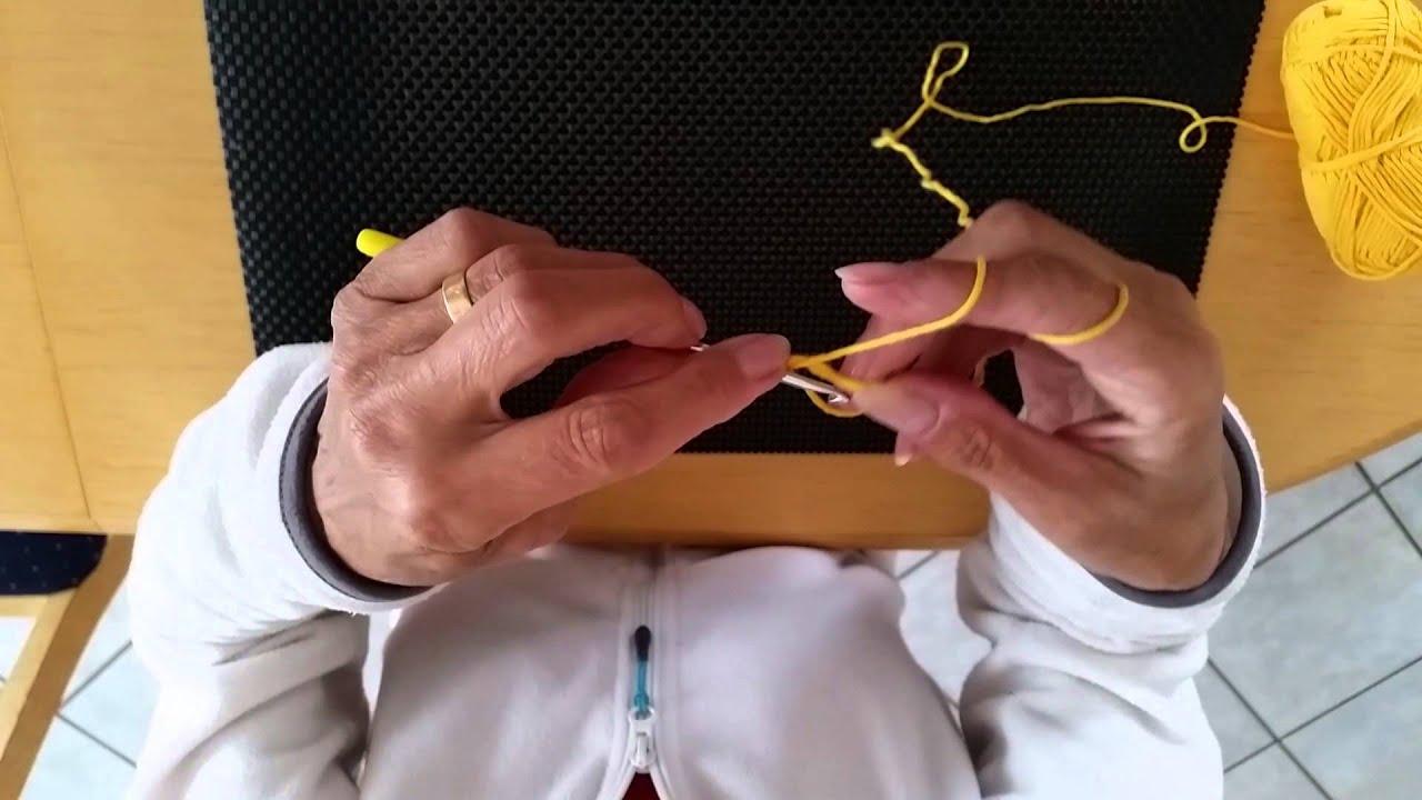 Fadenring Häkeln Für Linkshänder Youtube
