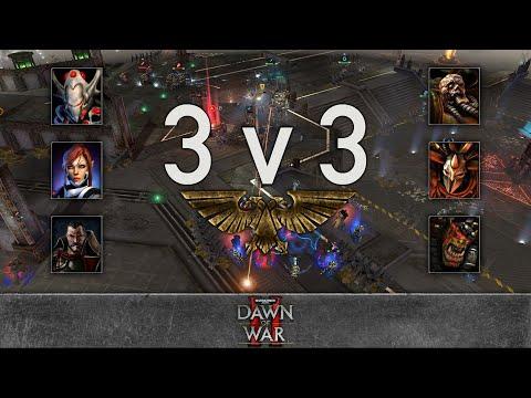 Dawn Of War 2 - 3v3 | Blackward + Farnir + Arthur Fleck [vs] Llib Rehpic + Zevargel + Burning