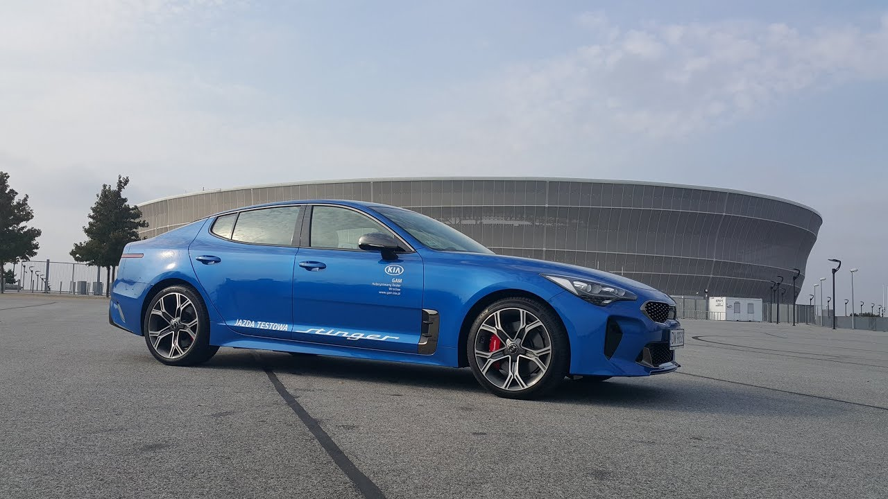 kia stinger gt 3 3 v6 micro blue exterior youtube. Black Bedroom Furniture Sets. Home Design Ideas