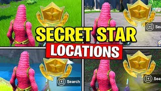 ALL SECRET BATTLE STARS Season 10 - Fortnite Week 1 to 4 Locations (SEASON X)