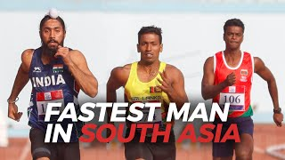 FASTEST MAN IN SOUTH ASIA! - 100m FINAL South Asian Games 2019