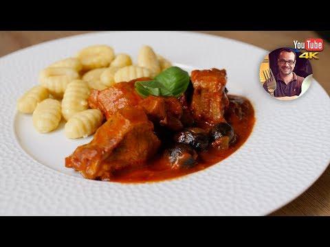 sauté-de-veau-à-l'italienne-|-tomate-olive-|-recette-facile