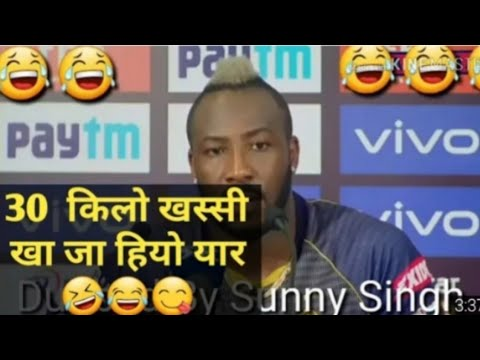 Andre russel funny dubb video ipl😂