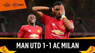 Man Utd 1-1 AC Milan | Amad scores backwards header! | UEFA Europa League highlights