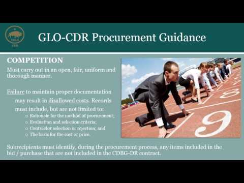 GLO-CDR Procurement Guidance