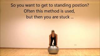 Stability Ball Balance 3  | How to get up / stand on ball | Marina Aagaard, MFE