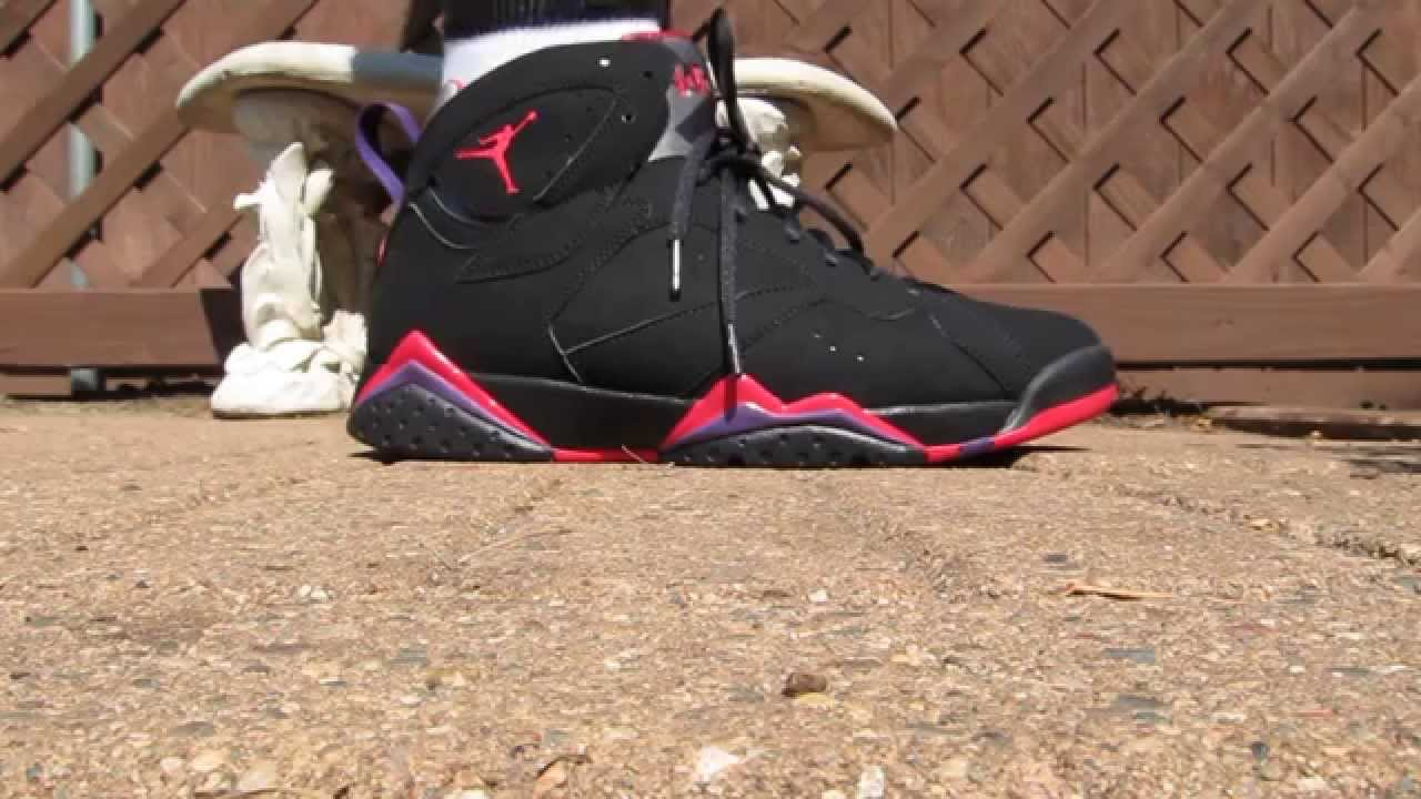 jordan 7 raptors on feet