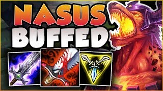 WTF! RIOT 100% GAVE TOO MUCH HEALING TO NASUS! LIFESTEAL NASUS TOP GAMEPLAY! - League of Legends
