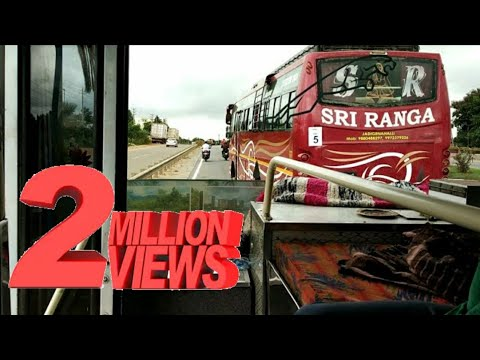 Private Bus Race in Bangalore||Awesome  horn Sound