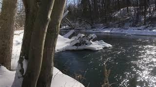 4K Landscape Scene - WinterRiver02 - Free Stock Footage