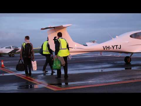 Flying from Adelaide to Ayers Rock during CPL training
